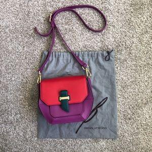 Brian Atwood Geometric Colourblock Crossbody Bag